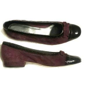 Suede and Patent Leather Flats Loafers Office Wear
